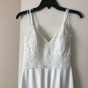 White jumpsuit, white romper